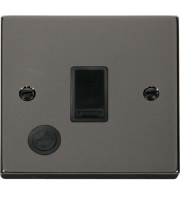 Click Scolmore 20A Dp Switch With Optional Flex Outlet - Black - (Black Nickel)