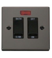 Click Scolmore 20A Dp Sink/bath Switch With Neon - Black - (Black Nickel)