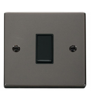 Click Scolmore 10AX 1 Gang Intermediate Plate Switch - Black -  (Black Nickel)