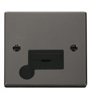 Click Scolmore 13A Fused Connection Unit With Optional Flex Outlet - (Black - Black Nickel)