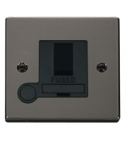 Click Scolmore 13A Dp Switched Fused Connection Unit With Optional Flex Outlet - Black - Black Nickel