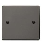 Click Scolmore 1 Gang Blank Plate - (Black Nickel)