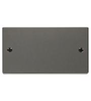 Click Scolmore 2 Gang Blank Plate - (Black Nickel)