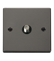 Click Scolmore Non-isolated Single Satellite Outlet - Black - (Black Nickel)