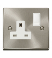 Click Scolmore Vpsat/ch 1-GANG 13A Dp Switched Socket W