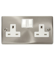 Click Scolmore Vpsat/ch 2-GANG 13A Dp Switched Socket W