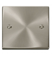 Click Scolmore 1 Gang Blank Plate (Satin Chrome)