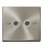 Click Scolmore Vpsc 1 Gang Twin Co- Axial Outlet