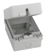 Fusebox Weatherproof Acc Enclosure 1G IP65 (Grey)