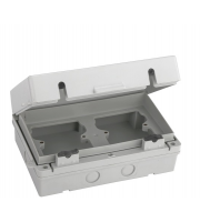 Fusebox Weatherproof Acc Enclosure 2x1G IP65 (Grey)