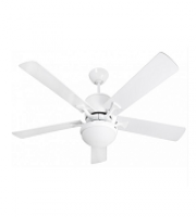 Fantasia Delta 52 Inch Low Energy Ceiling Fan with Aries Light (White)