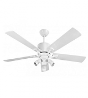 Fantasia Delta Low Energy 52 Inch Ceiling Fan (Gloss White) with Sorrento Light