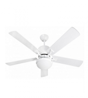 Fantasia Delta Low Energy 52 Inch Ceiling Fan (Gloss White) with LED Aries Light