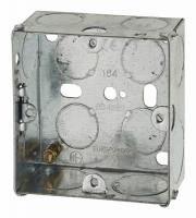 1 Gang Flush Back Box with Knockout - 35mm - Galvanised