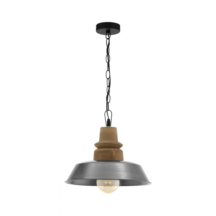 Eglo RIDDLECOMBE pendant light Brown, Silver Brown, Silver