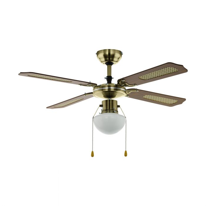Eglo TIGGANO ceiling fan & light Aged Brass Aged Brass