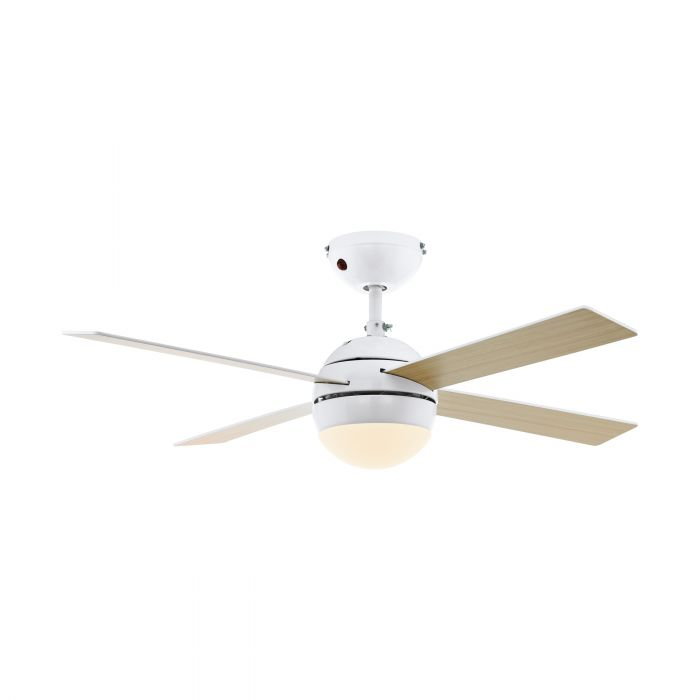 Eglo LOSCIALE ceiling fan & light Shiny White Shiny White