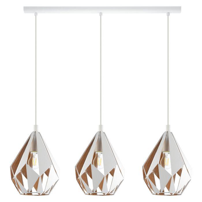 Eglo CARLTON 1 pendant light White, Gold White, Gold
