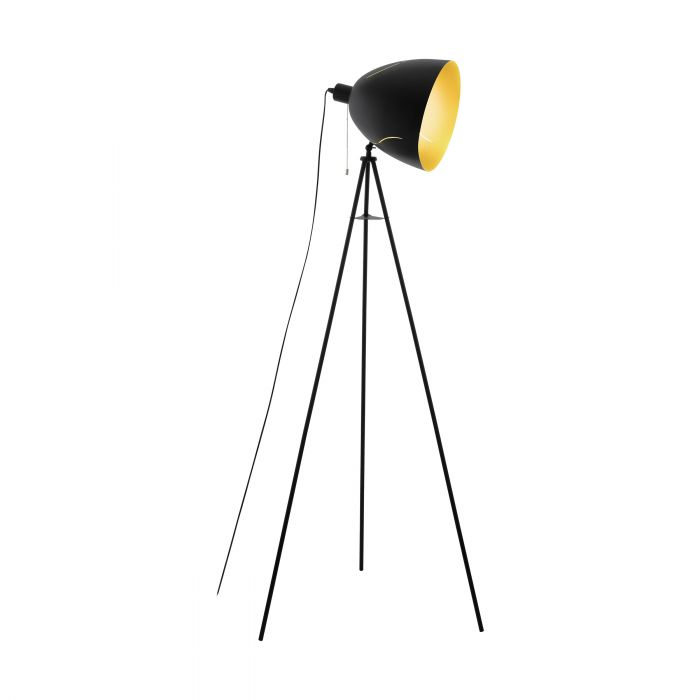 Eglo HUNNINGHAM floor light Black, Gold Black, Gold