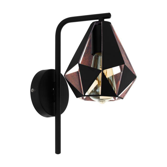 Eglo CARLTON 4 wall light Black, Copper Color-antique Black, Copper Color-antique