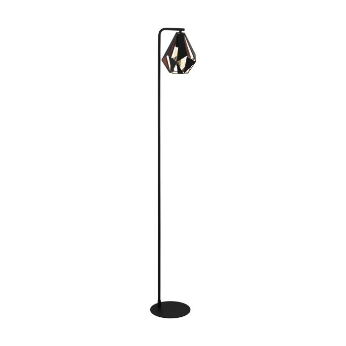 Eglo CARLTON 4 floor light Black, Copper Color-antique Black, Copper Color-antique