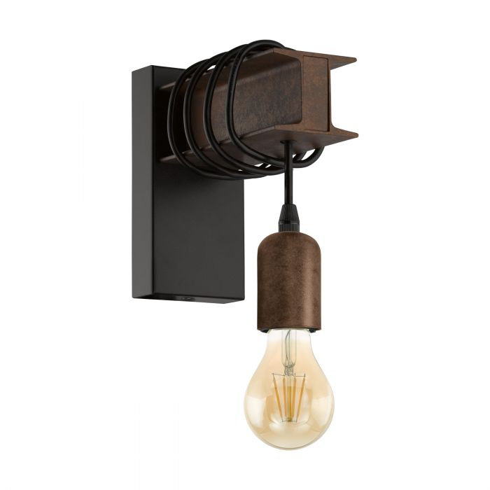 Eglo TOWNSHEND 4 wall light Black, Brown Black, Brown