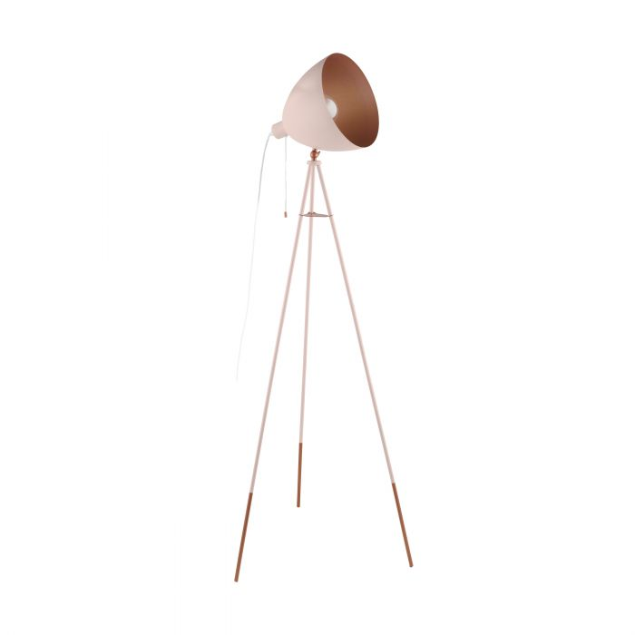 Eglo CHESTER-P floor light Pastel Apricot, Copper Pastel Apricot, Copper