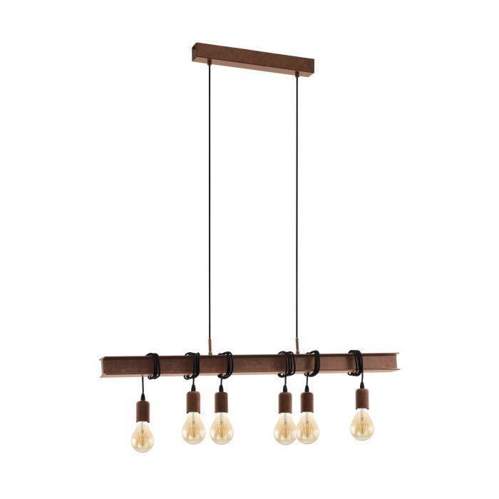 Eglo TOWNSHEND 4 pendant light Antique-brown Antique-brown