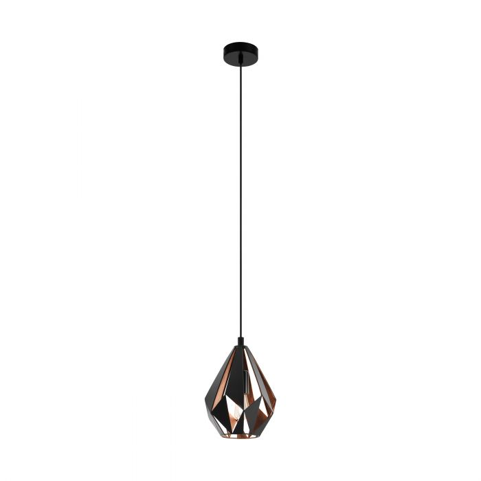Eglo CARLTON 1 pendant light Black, Copper Black, Copper SALE ITEM