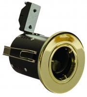 Red Arrow GU10 Twist & Lock Aluminium Fixed Acoustic Downlight (Polished Brass)