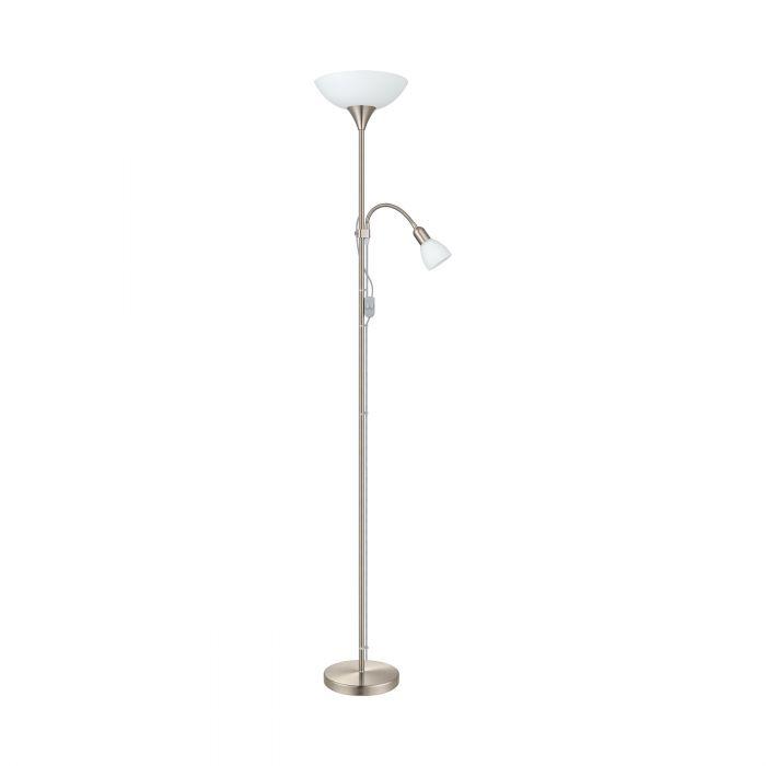 Lisbon Antique Brass Floor LED Lamp Light 20W Warm White Endon 61141