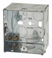 1 Gang Flush Back Box with Knockout - 47mm - Galvanised