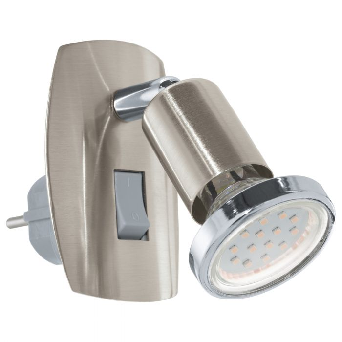 Eglo MINI 4 plug light Satin Nickel, Chrome Satin Nickel, Chrome