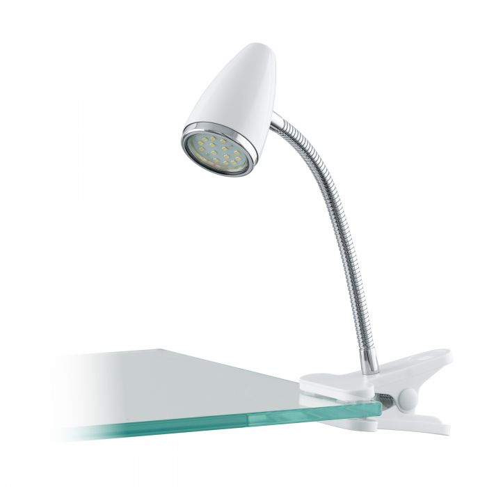 Eglo RICCIO 1 clamp light White, Chrome White, Chrome