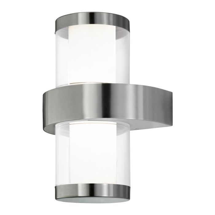 Eglo BEVERLY 1 wall light Stainless Steel White, Clear SALE ITEM