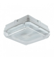 Ansell Astro 28W CFL IP65 Emergency Bulkhead with Microwave Sensor (White)