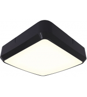 Ansell Astro 8W LED Bulkhead with Electronic Photocell (Black)