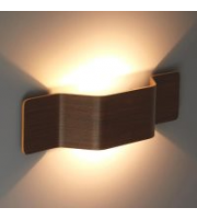 Ansell Mitre Wall Light Walnut Front Cover (Walnut)