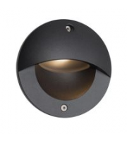 Ansell 3W Parona Circular 4000K Led Wall Light (Graphite)