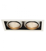 Ansell 2x32W Unity R 4000K Downlight (White/Black trim)
