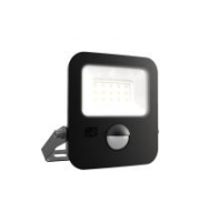 Ansell 10W Zion Led 3000K Polycarbonate Led Floodlight C/w Pir (black)