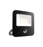 Ansell 20W Zion Led 3000K Polycarbonate Led Floodlight C/w Pir (Black)