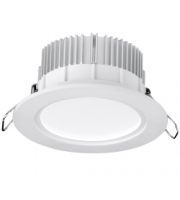 Aurora IP44 Fixed 12W Dimmable LED Downlight (White)