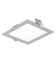 Aurora 12W Square Low Profile Mini Commercial Downlight (Satin Silver)