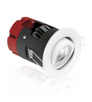 Aurora Lighting m10 Adjustable 8.5W Dimmable LED Downlight (Matt White)