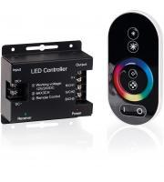 Aurora Lighting 12/24V DC RGB LED Colour Changing Remote Controller (Black)