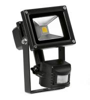 Enlite 10W Adjustable LED Floodlight with PIR Sensor (Black)
