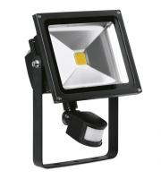 Enlite 30W Adjustable LED Floodlight with PIR Sensor (Black)