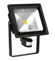 Enlite 50W Adjustable LED Floodlight with PIR Sensor (Black)