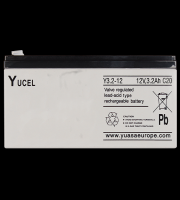 Yucel 3.2ah 12v Back Up Battery for Alarm Control Panels (Grey)